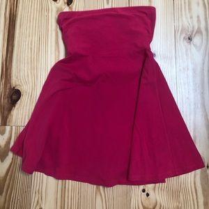 Strapless pink cotton/ spandex dress